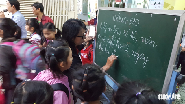 Students may get days off as Ho Chi Minh City brace for tropical depression