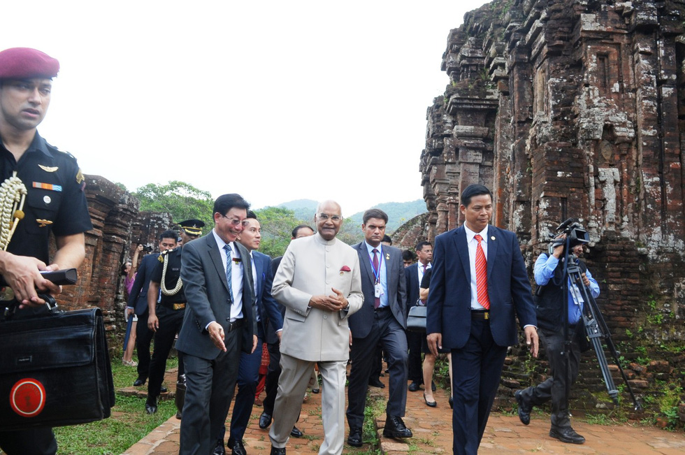 Indian president visits My Son Sanctuary in central Vietnam