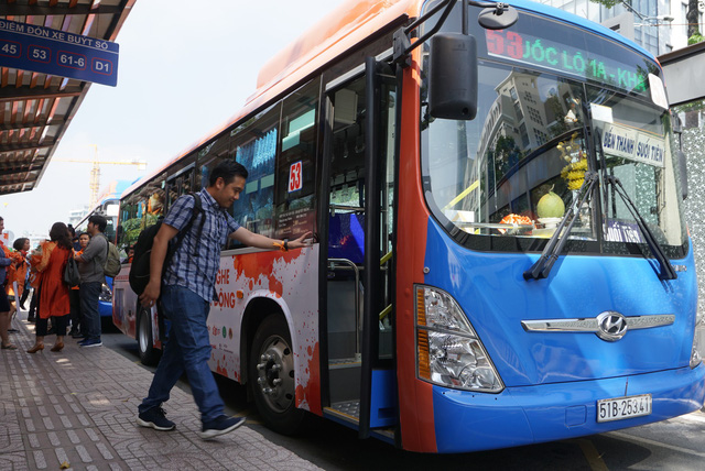 Ho Chi Minh City paints buses orange to raise awareness of street harassment