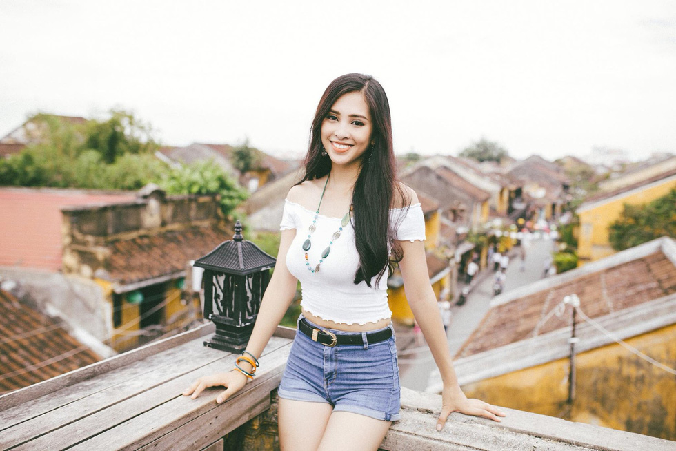 Miss Vietnam 2018 Tran Tieu Vy is seen in her hometown of the central ancient city of Hoi An