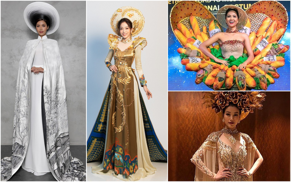 Mixed opinions on 'banh mi dress' for Vietnam's Miss Universe 2018 national costume continue flooding social media