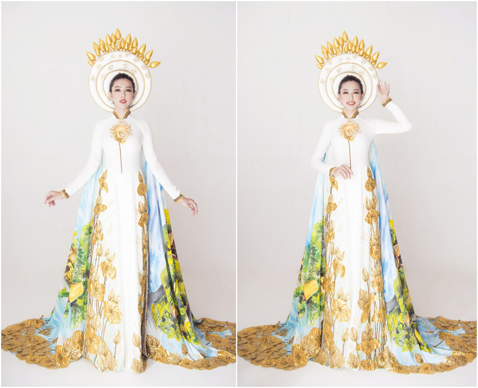 Miss Vietnam 2018's 'Beauty with a purpose' Nguyen Thuc Thuy Tien dons Vietnam's national costumes of ao dai for Miss International 2018