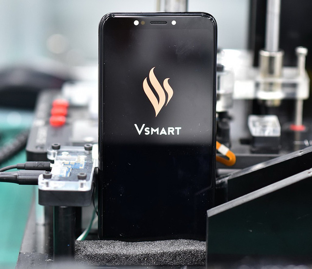 A Vsmart phone is seen in this photo