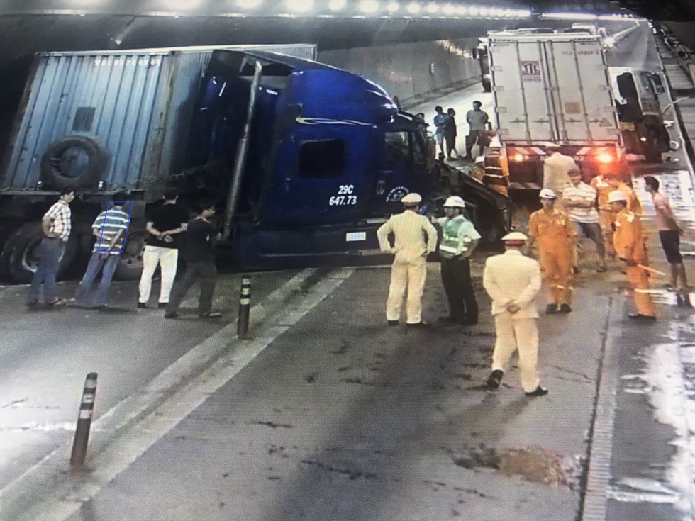 Traffic through Vietnam's longest road tunnel disrupted after head-on truck collision