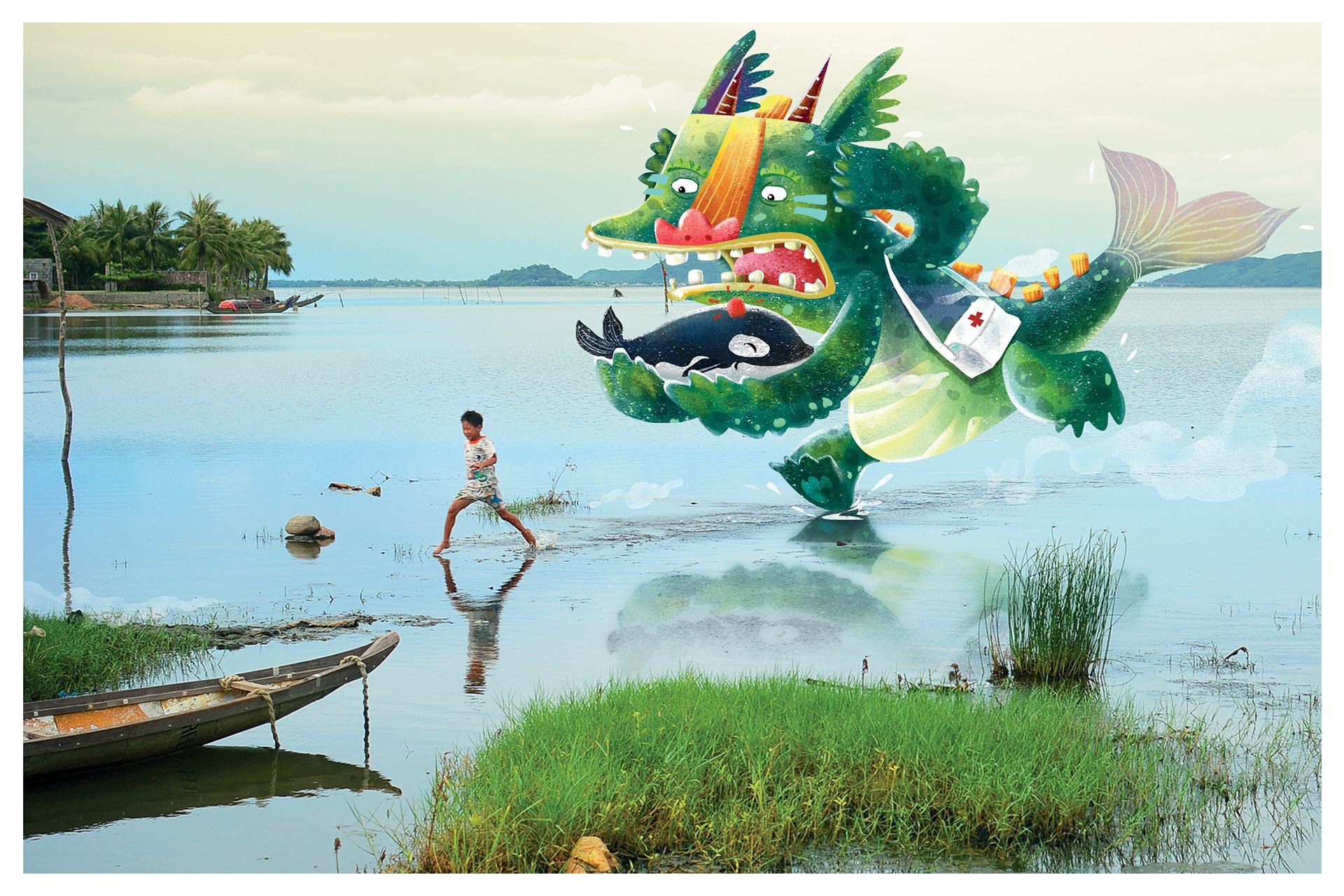 Pham Quang Phuc and Hoang Ngoc Doan Trang's entry to the 2018 ASEAN Children's Books Illustrator Awards