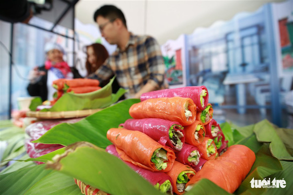 Colorful pho rolls are seen at Pho Hai Thien. Photo: Nam Tran / Tuoi Tre