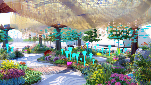 An artist's impression of the 2019 Nguyen Hue Flower Street