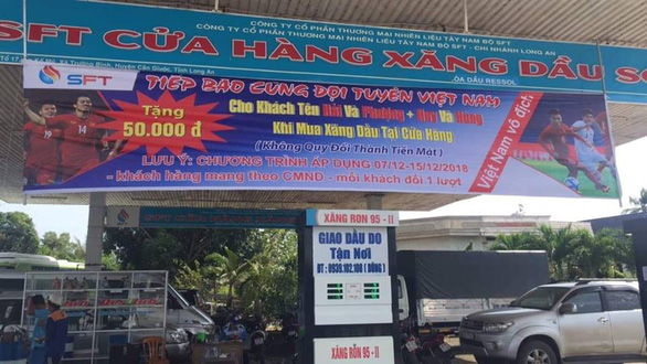Filling station in Vietnam offers free gas to those with same name as country's footballers