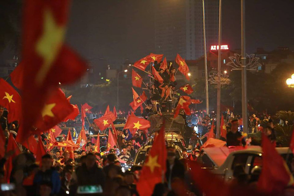 Wild celebrations in Hanoi as Vietnam win regional title
