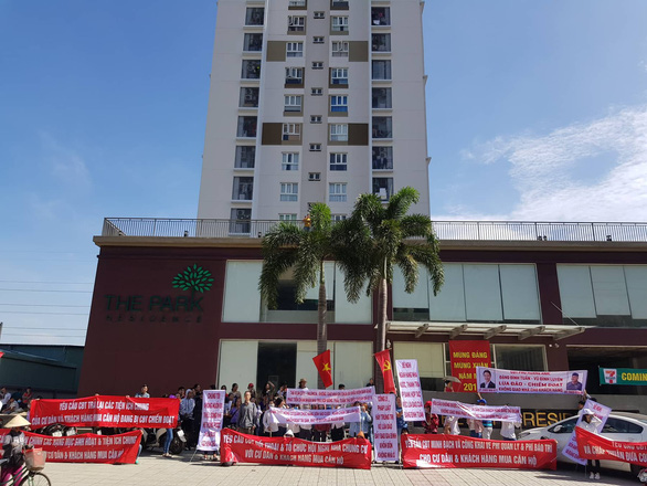 Ho Chi Minh City apartment dwellers protest against promise-breaking developer