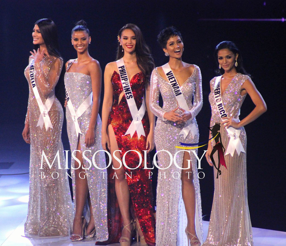 Top 5 finalists at Miss Universe 2018 in Bangkok, Thailand on December 17.