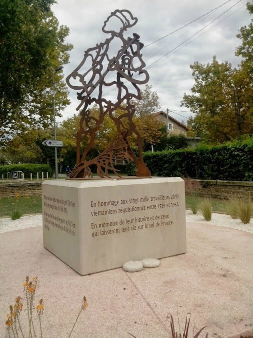 A memorial to Vietnamese workers in France during the Second War War is seen in Arles, southern France.
