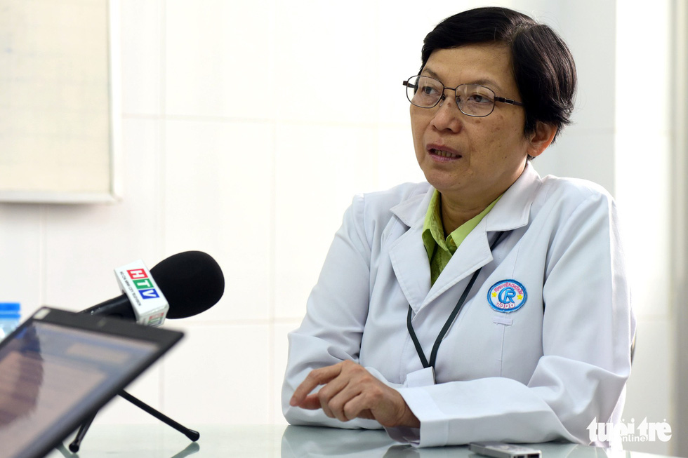Dr. Tran Thi Bich Huong during an interview with Tuoi Tre (Youth) newspaper. Photo: Tuoi Tre