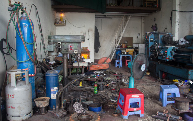 A small-scaled welding shop in Thu Duc District, Ho Chi Minh City. photo: Tuoi Tre