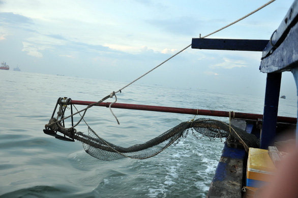 The net of a boat at sea in Vietnam. Photo: Tuoi Tre