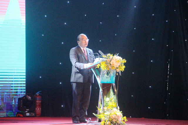 Prime Minister Nguyen Xuan Phuc speaks at the ceremony. Photo: Tuoi Tre