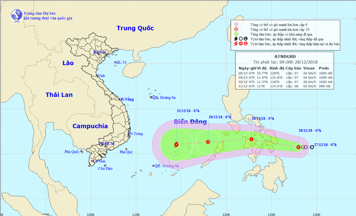 Tropical depression could upgrade to storm as it heads toward East Vietnam Sea