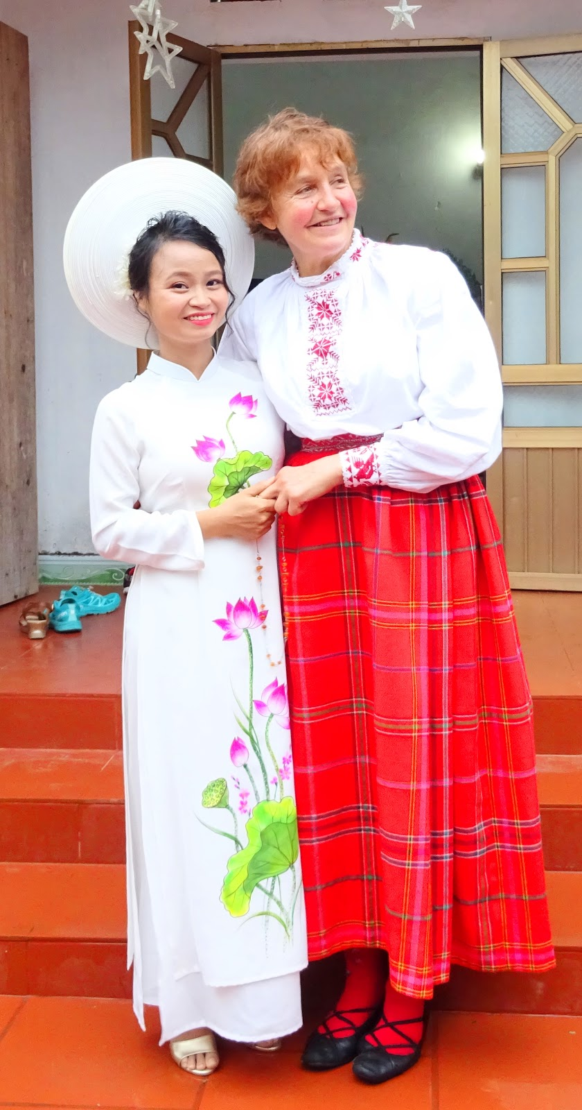 Nguyen Thi Sam and her mother in law in a photo provided by Meigo Mark
