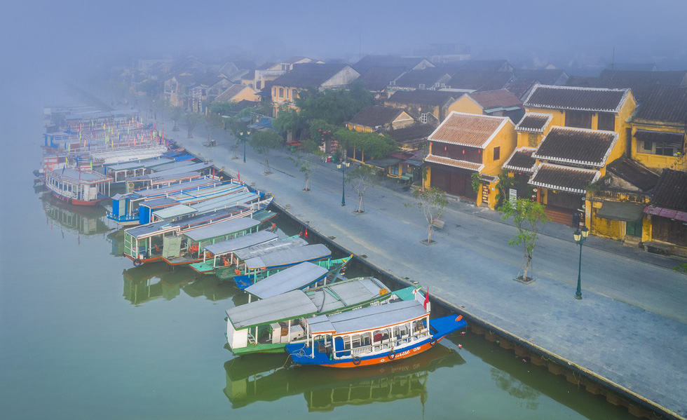 Boats dock in Hoi An