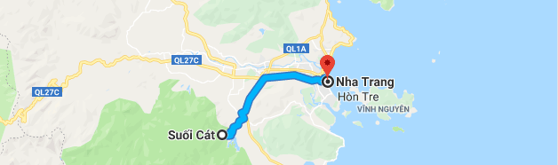 The location of the deadly landslide (red marker) in Khanh Hoa Province, southcentral Vietnam, is seen in this Google Maps screenshot.