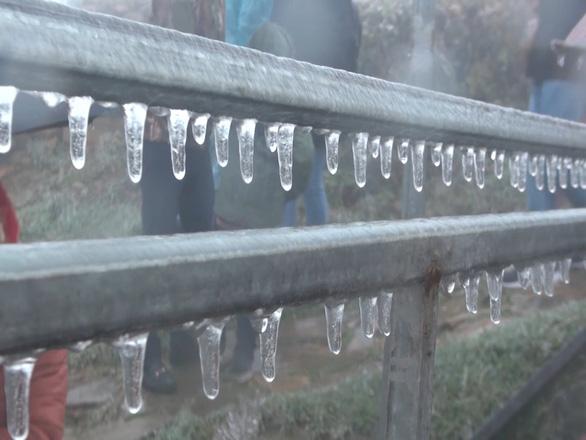 Frost form at Mau Son. Photo: Tuoi Tre