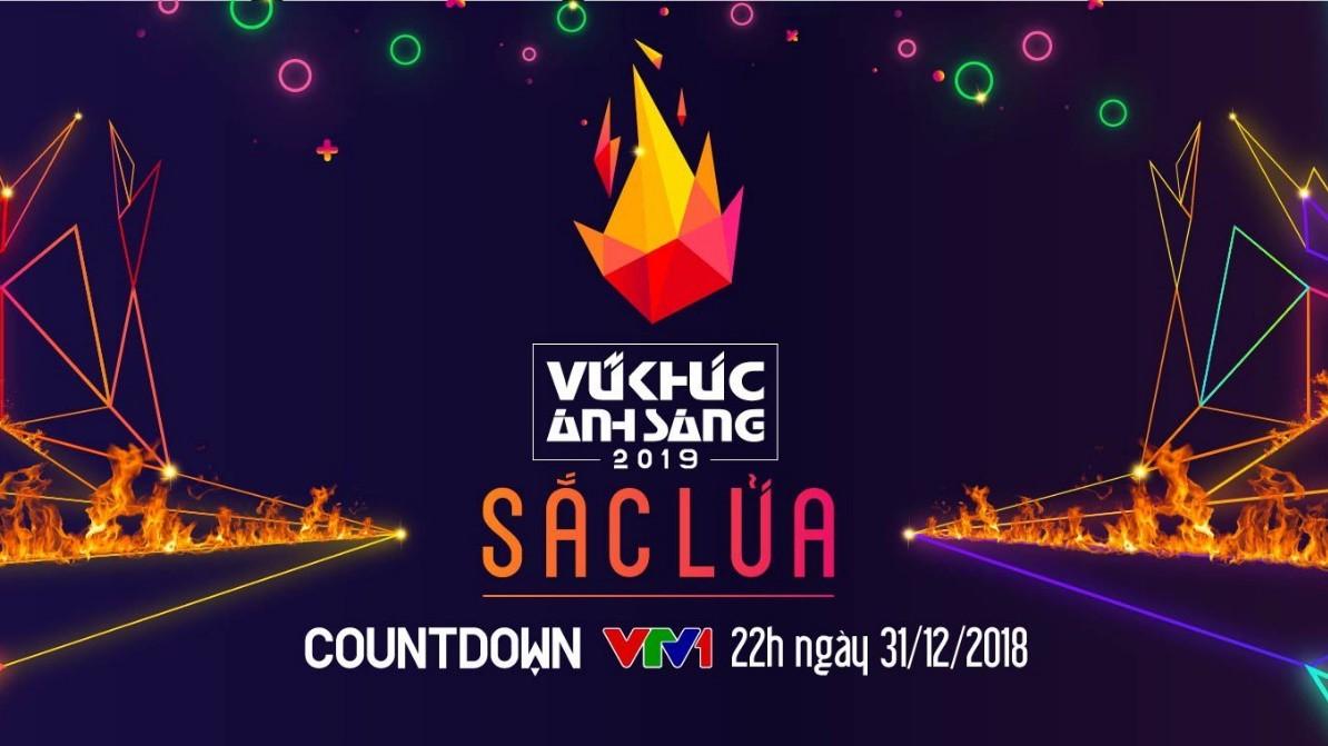 """Poster """"Countdown 2019 – Light Dance"""" in Hanoi"""
