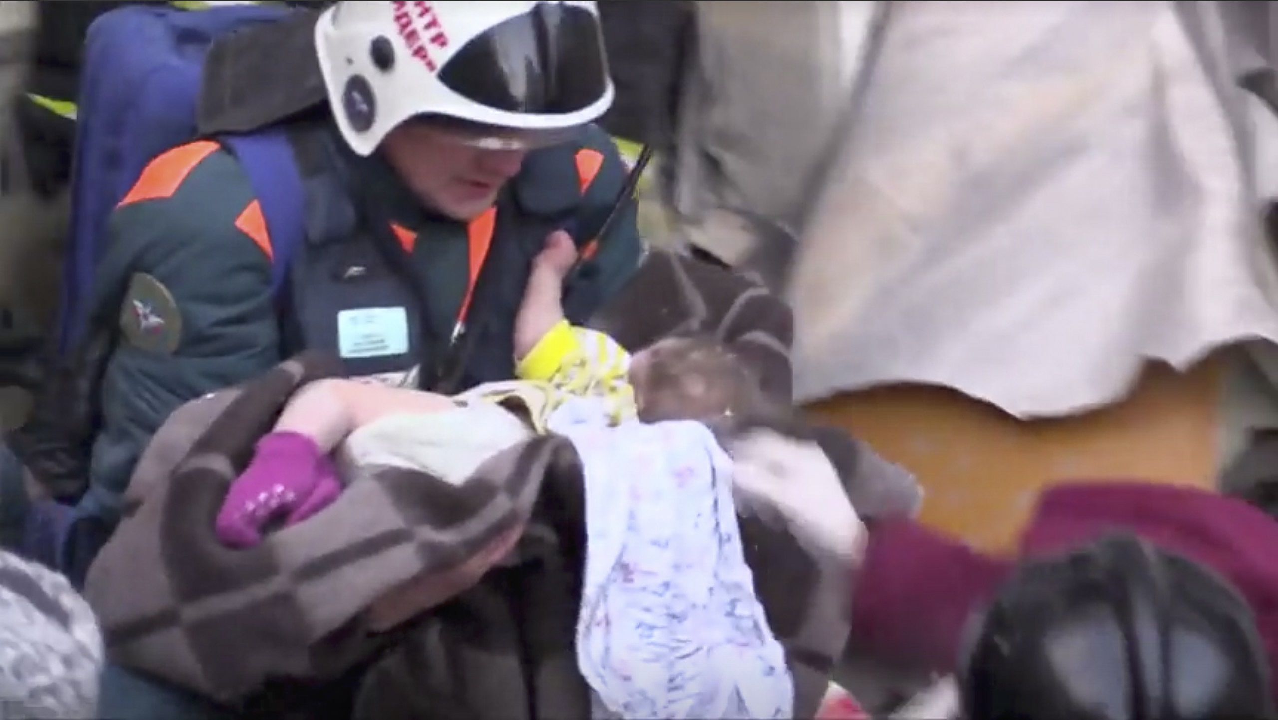 Baby boy found alive after 35 hours under rubble after Russia blast