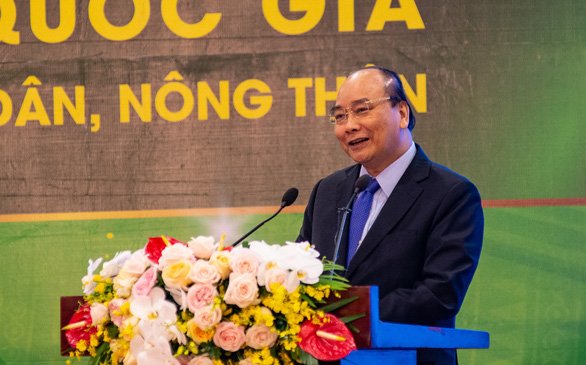 Vietnam's Prime Minister Nguyen Xuan Phuc delivers remarks at a conference in Hanoi, January 3, 2019. Photo: Tuoi Tre