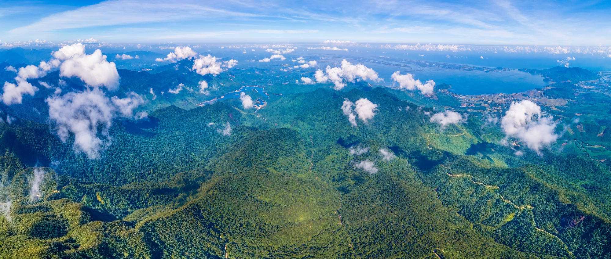 An aerial view of the Bach Ma Range in central Vietnam. Photo: Nguyen Phong
