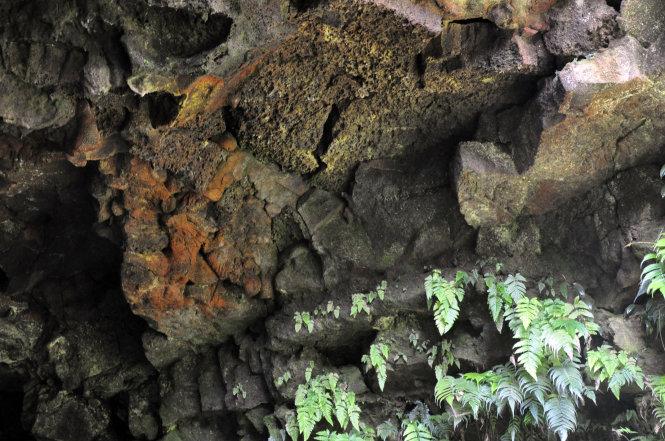 Rocks inside the C7 lava cave in Dak Nong Province, Vietnam's Central Highlands. Photo: Tuoi Tre