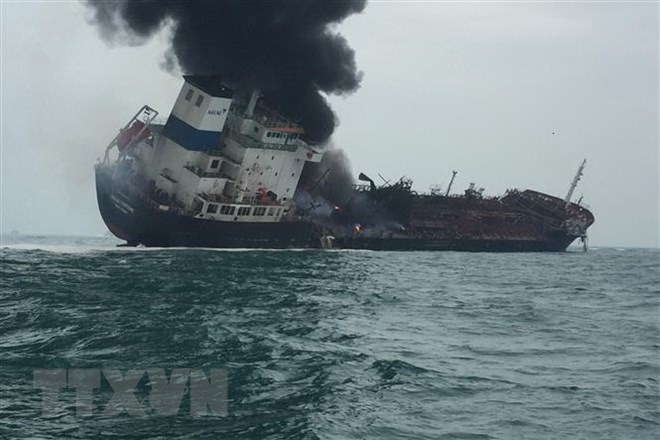 One dead, two missing as Vietnamese oil tanker catches fire off Hong Kong