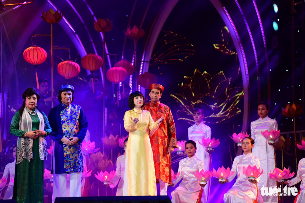 Artists perform at a ceremony celebrating 100 years of the development of 'cai luong' in Ho Chi Minh City on January 13, 2019. Photo: Tuoi Tre