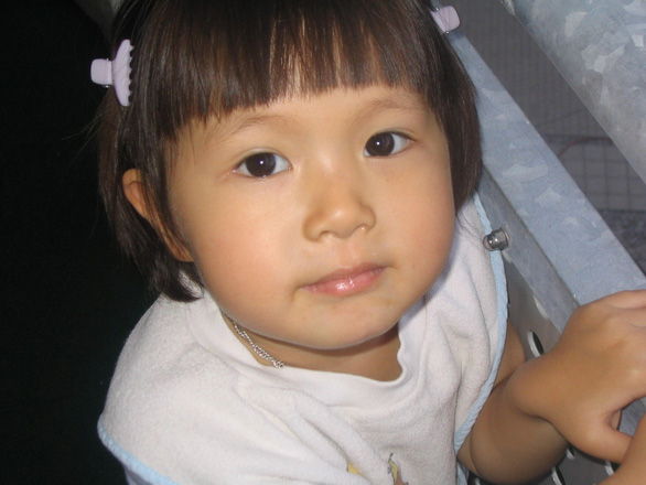 Nguyen Manh Hung's daughter is pictured at the age of four in this provided photo.