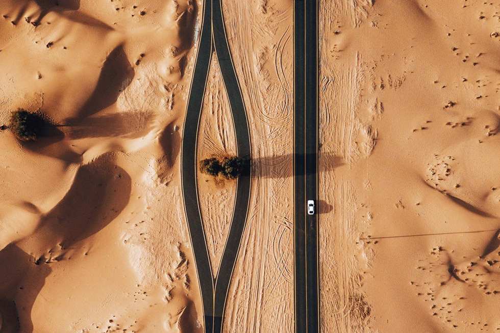 Alqudra Desert, UAE. Photo: Dronestagram/whosane