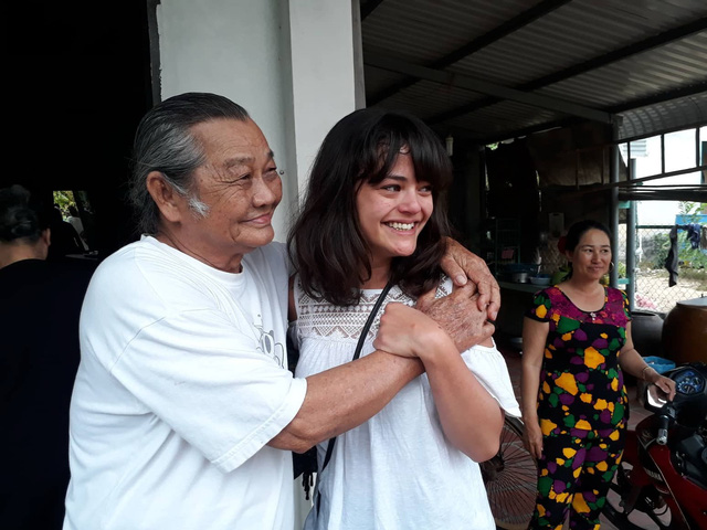 Lysiane Danièle Josette is seen with her paternal grandfather in Ba Ria-Vung Tau Province, southern Vietnam, January 15, 2019. Photo: Tuoi Tre