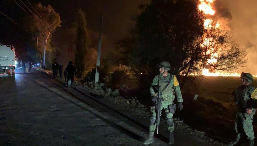 Mexican pipeline explosion kills at least 20