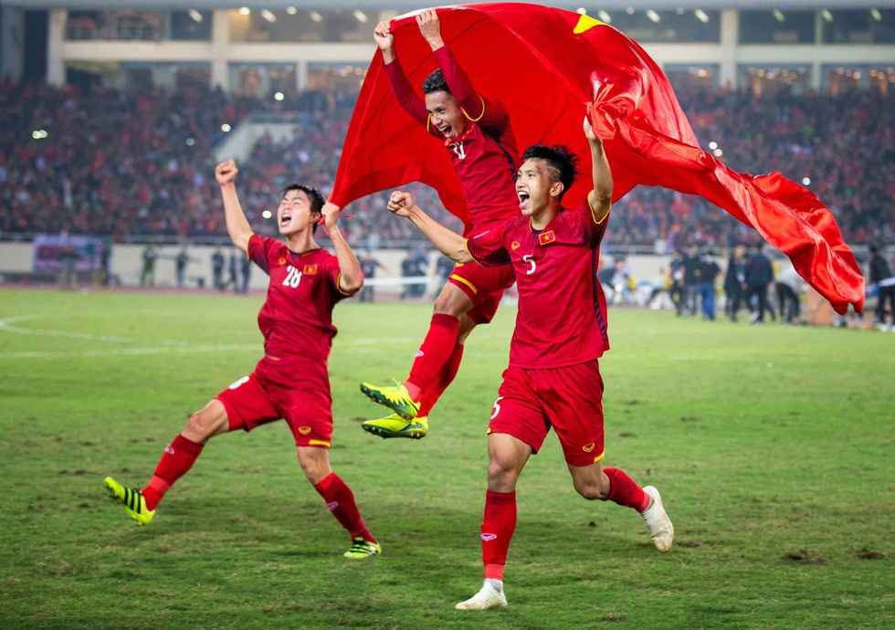 Second prize: The joy of winning. Photo: Tran Anh Tuan