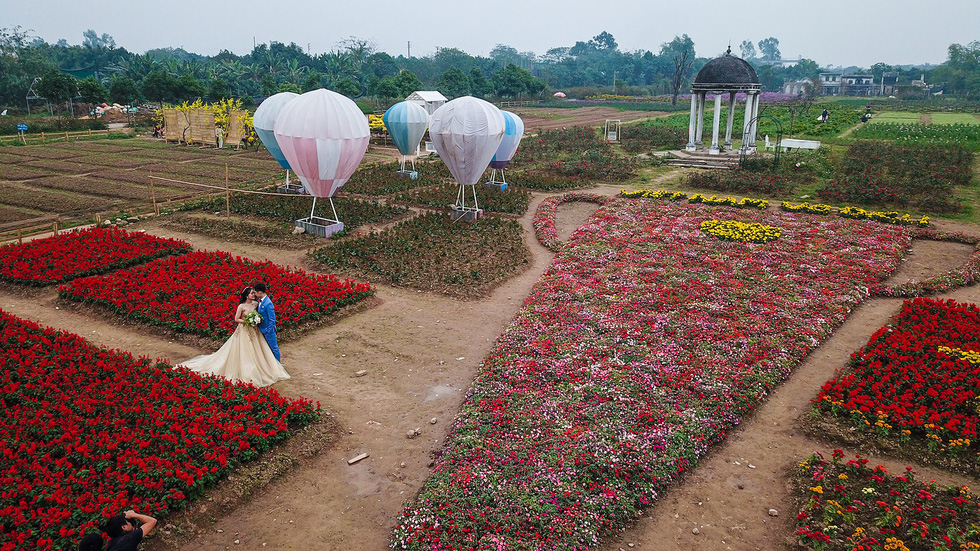 Hanoi gardener designs giant flower trophy to cheer up Vietnam football team
