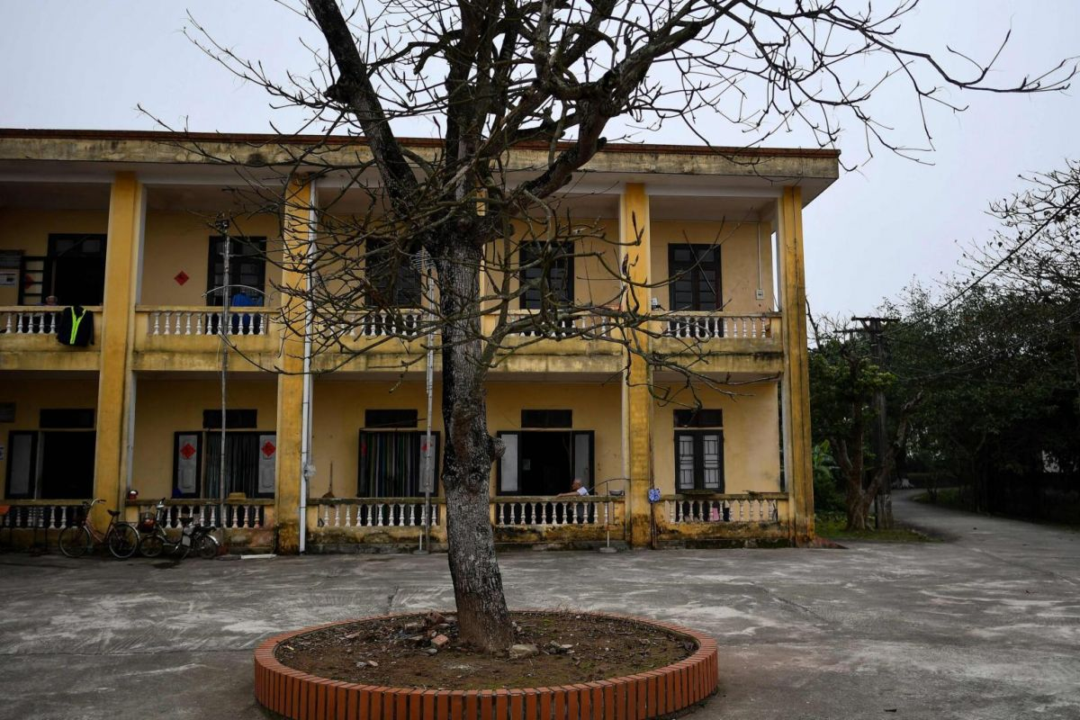 The two-storey building houses leprosy patients and survivors in the Van Mon Leprosy Hospice compound. Photo: AFP