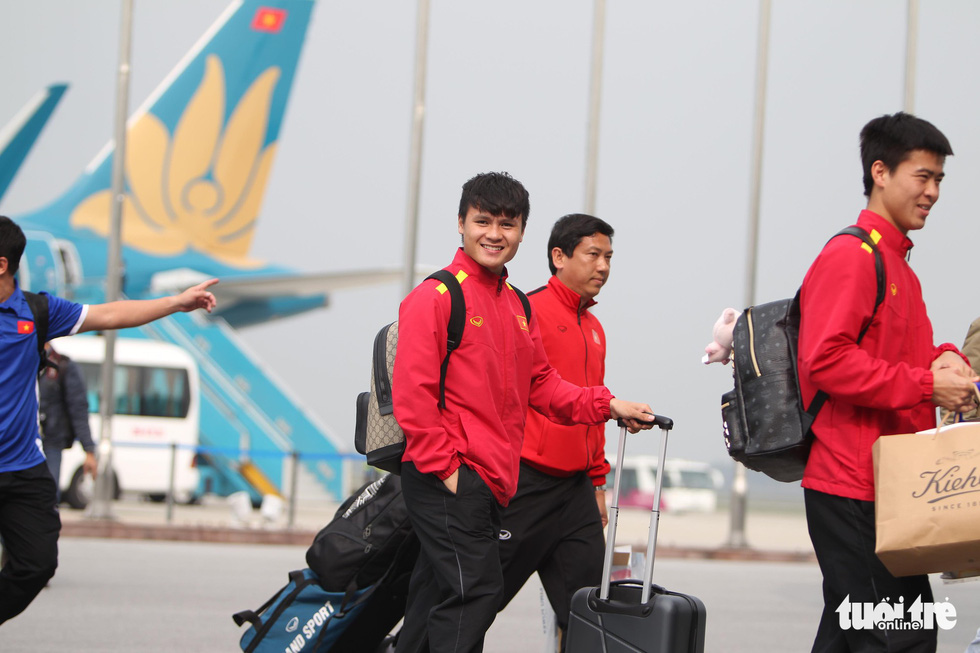 The heroes are home: Vietnam football team arrive in Hanoi after fairytale Asian Cup run