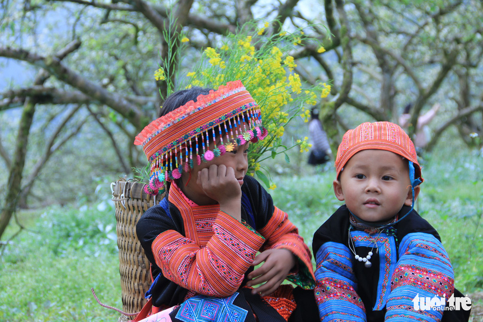 Local children of the Mong ethnic minority enjoy their time at the garden. Photo: Tuoi Tre