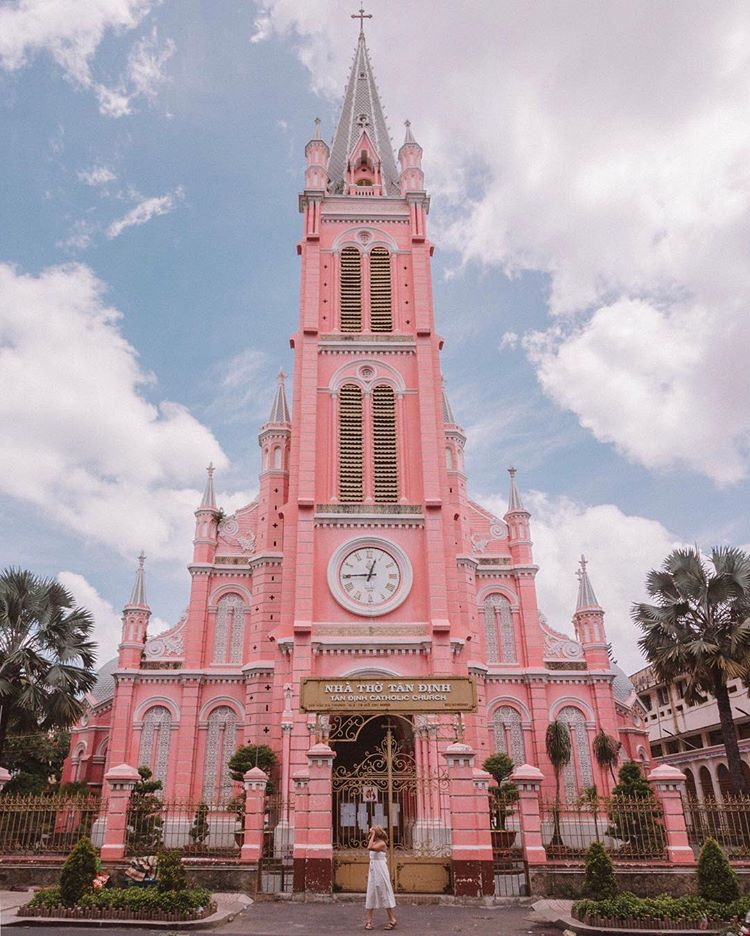 Tan Dinh Church in the viral photo of @milesofsmiles._