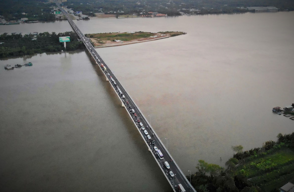 Rach Mieu Bridge is pictured from above on February 9, 2019. Photo: Mau Truong / Tuoi Tre