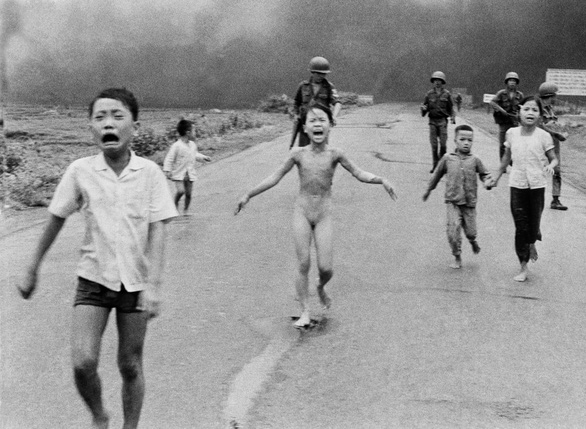 The iconic 'Napalm Girl' photo taken by Associated Press photographer Nick Ut in Vietnam in 1972.