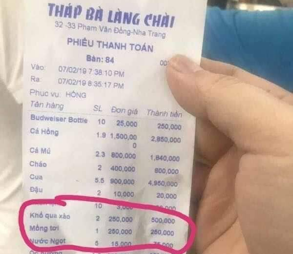 Restaurant fined $32 for overcharging Chinese tourists in Nha Trang