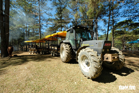 The vehicles used to transport visitors to the site. Photo: Mai Vinh / Tuoi Tre