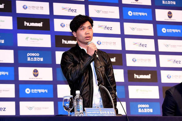 Vietnamese star striker Nguyen Cong Phuong introduced at Korean club Incheon United