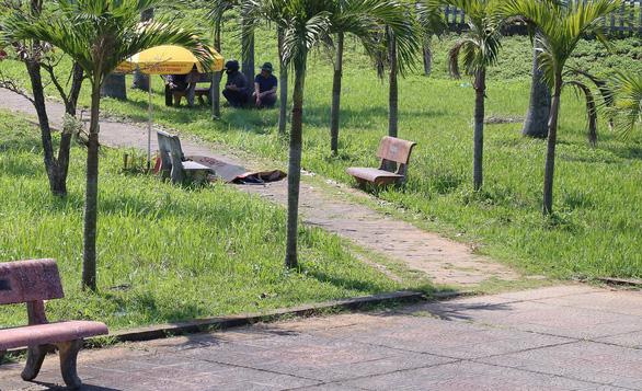 The scene where a Filipino tourist suddenly died in Quang Tri, central Vietnam, on February 15, 2019. Photo: H.T / Tuoi Tre