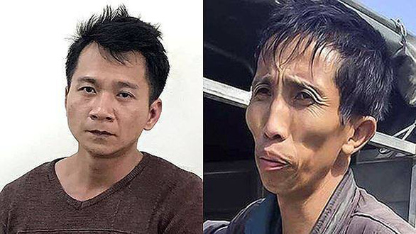 Vuong Van Hung (L) and Bui Van Cong, the two masterminds behind the kidnap, rape and murder of a 22-year-old female college student in Dien Bien Province in northern Vietnam in February 2019.