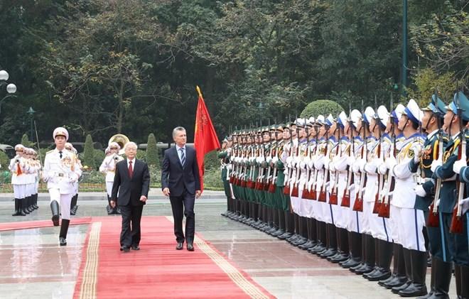 Argentine president on first state visit to Vietnam